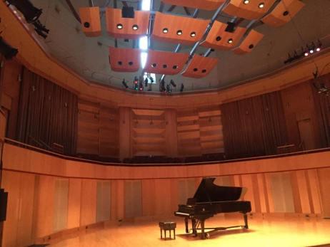 Weber Music Hall where we performed Beethoven, Mendelssohn and Schubert